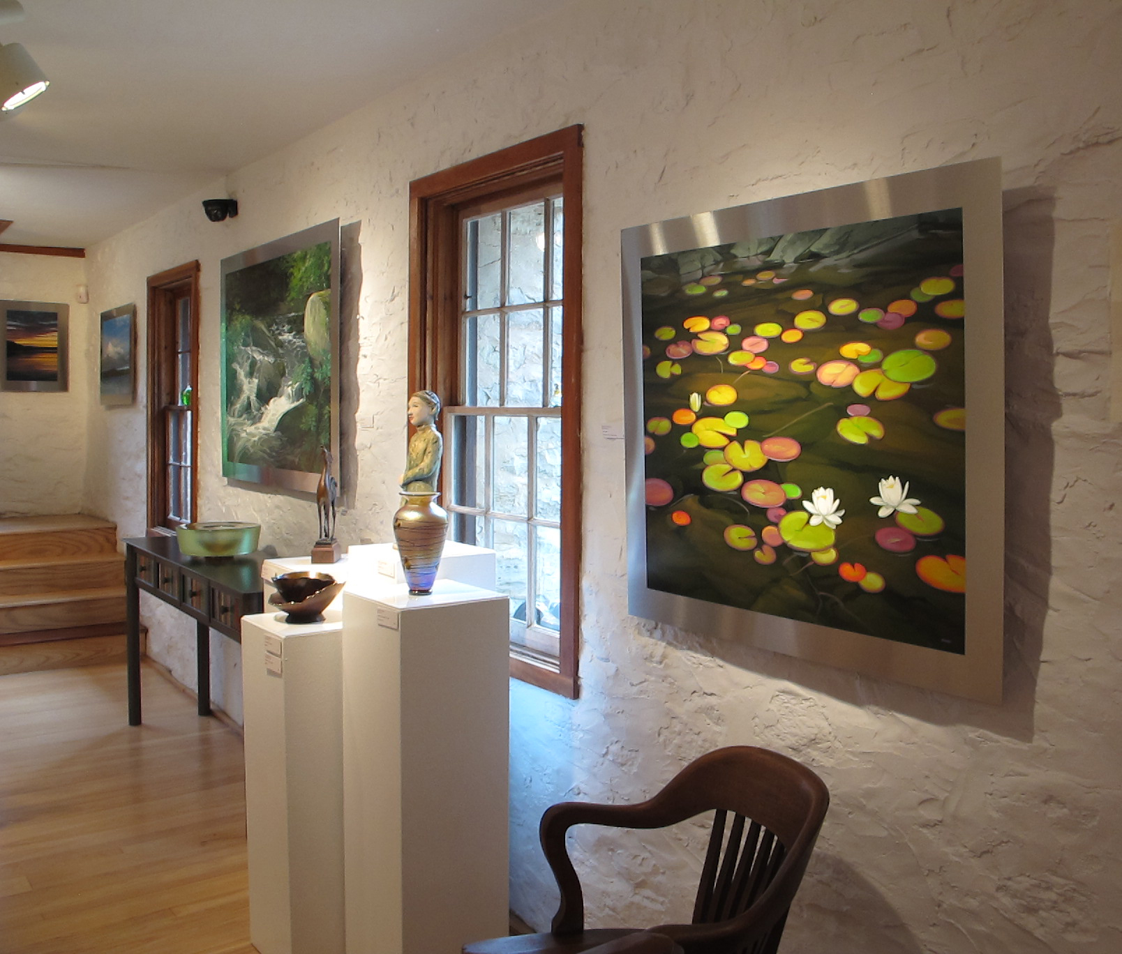 Installation view at Edgewood Orchard Galleries, Fish Creek, WI