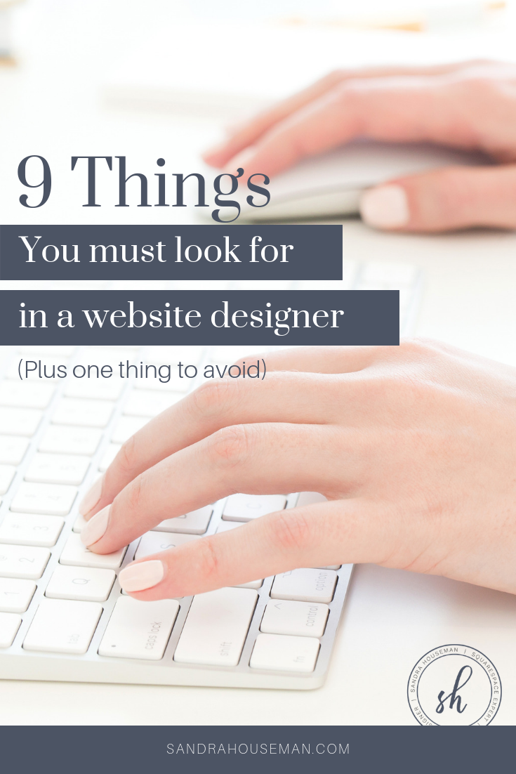 things to look for in a web designer