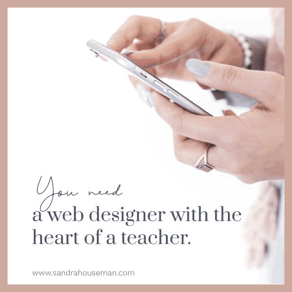Female entrepreneur web designer