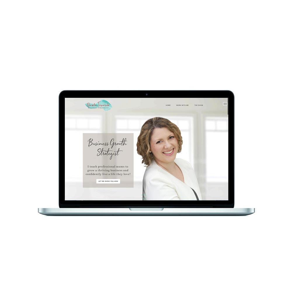 female entrepreneur website design