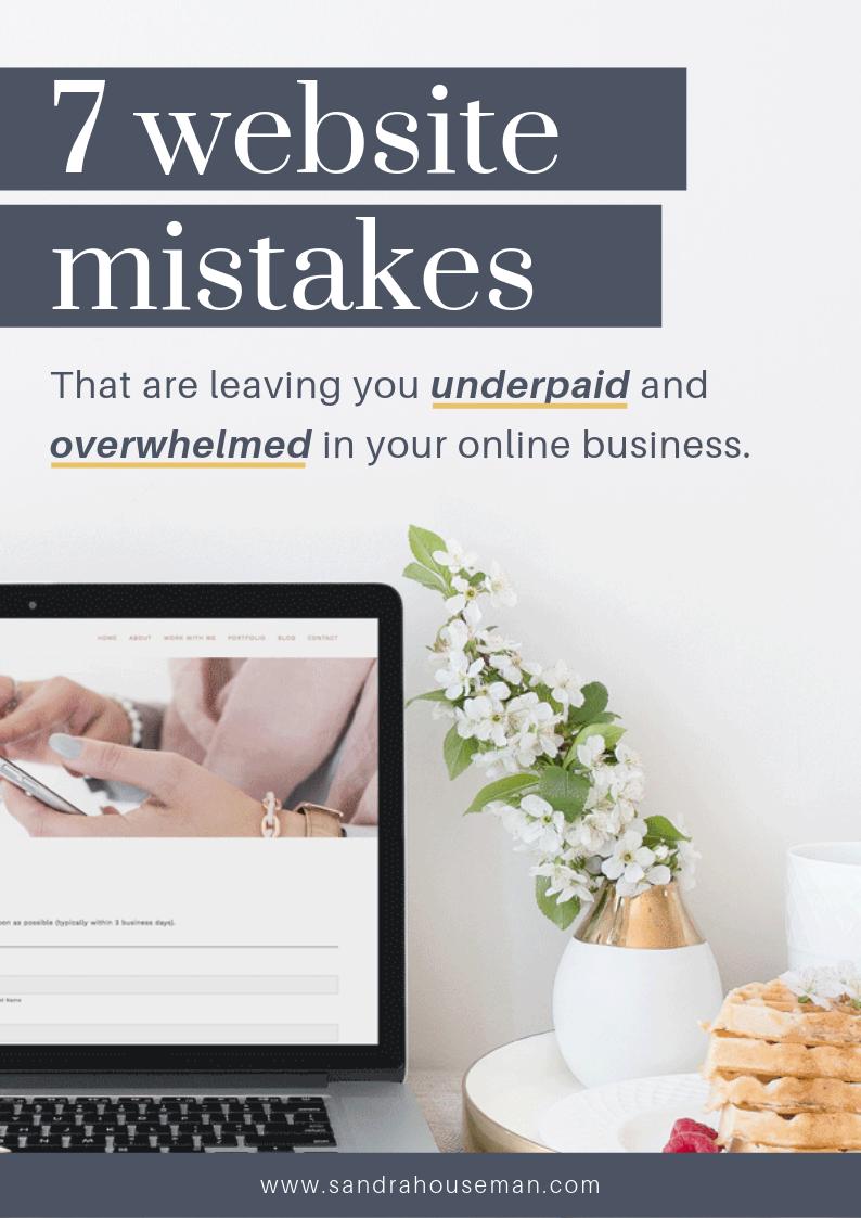Sandra Houseman_7 common website mistakes