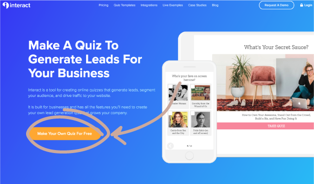 Using interact to build an online quiz for your business