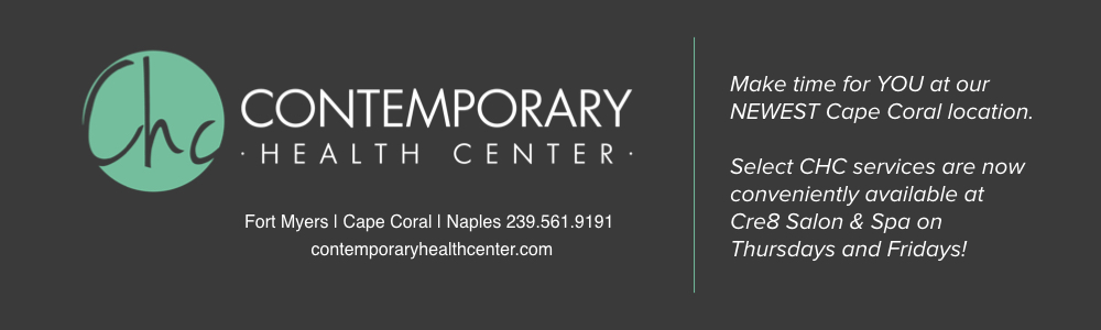 Select CHC services are conveniently available in Cape Coral at Cre8 Salon & Spa for Thursday and Friday appointments, call to book your appointment at our Cape Coral location-    239-561-9191