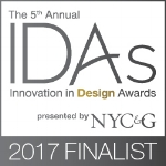 Honored to be named a finalist in the 2017 NYC&G Innovation in Design Awards.