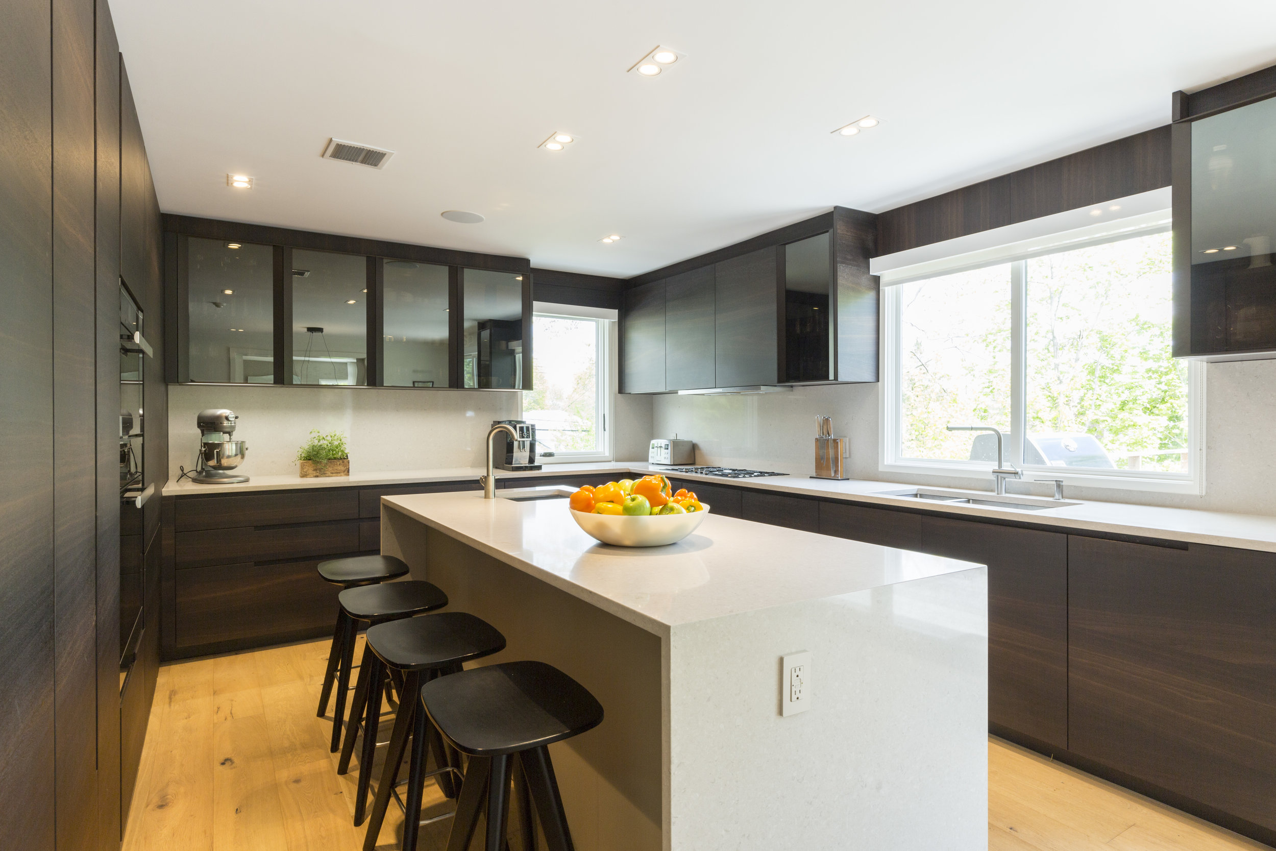 A modern kitchen in our  Scarsdale Home  project designed by  B Interior