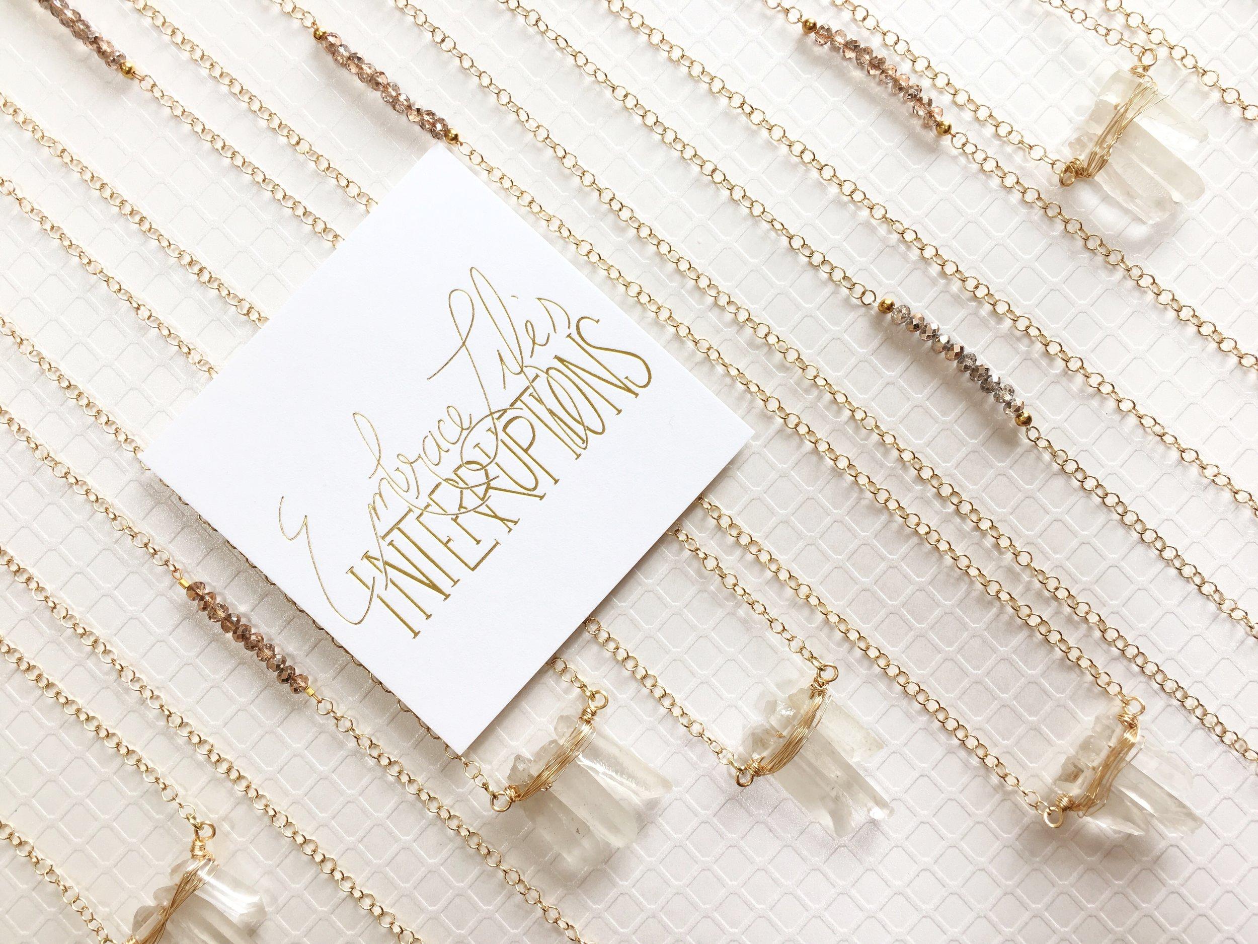 Long crystal jewelry