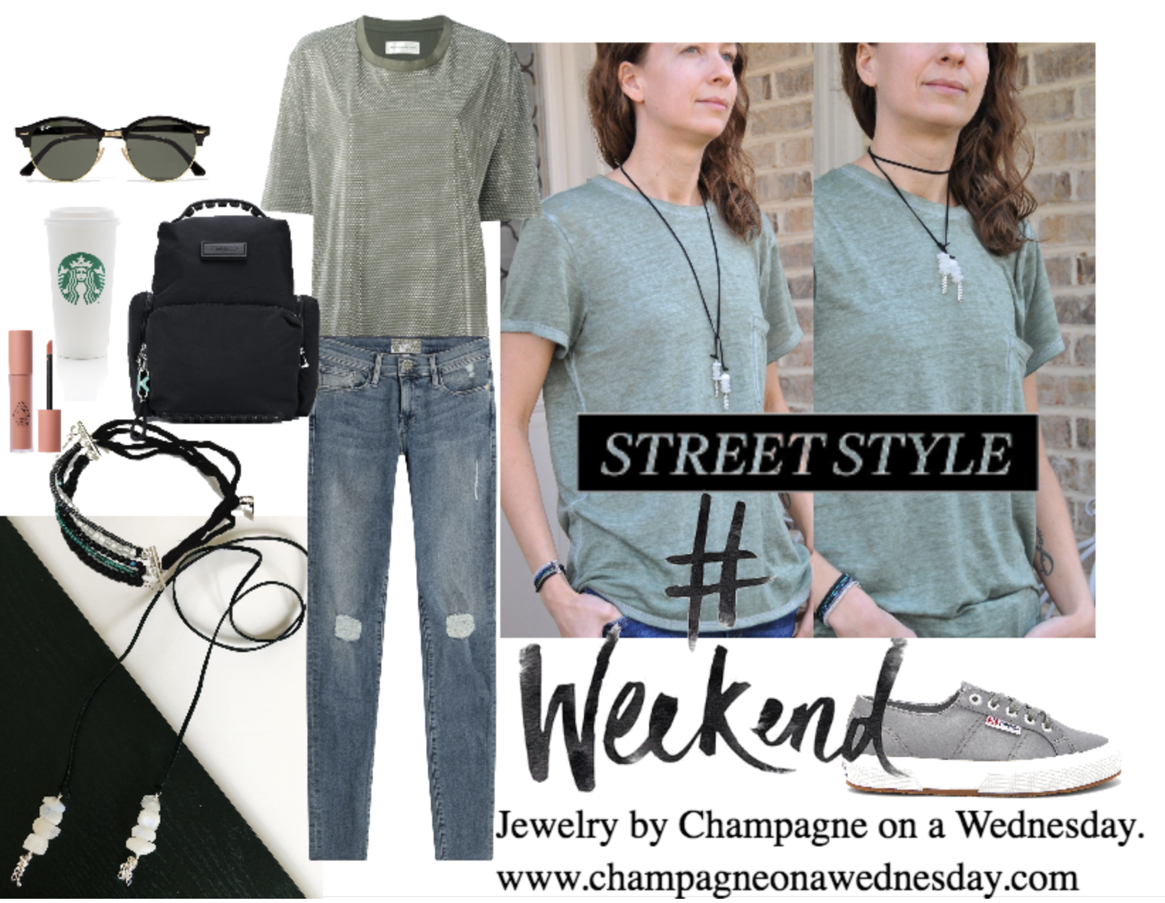 weekend outfit idea with jewelry