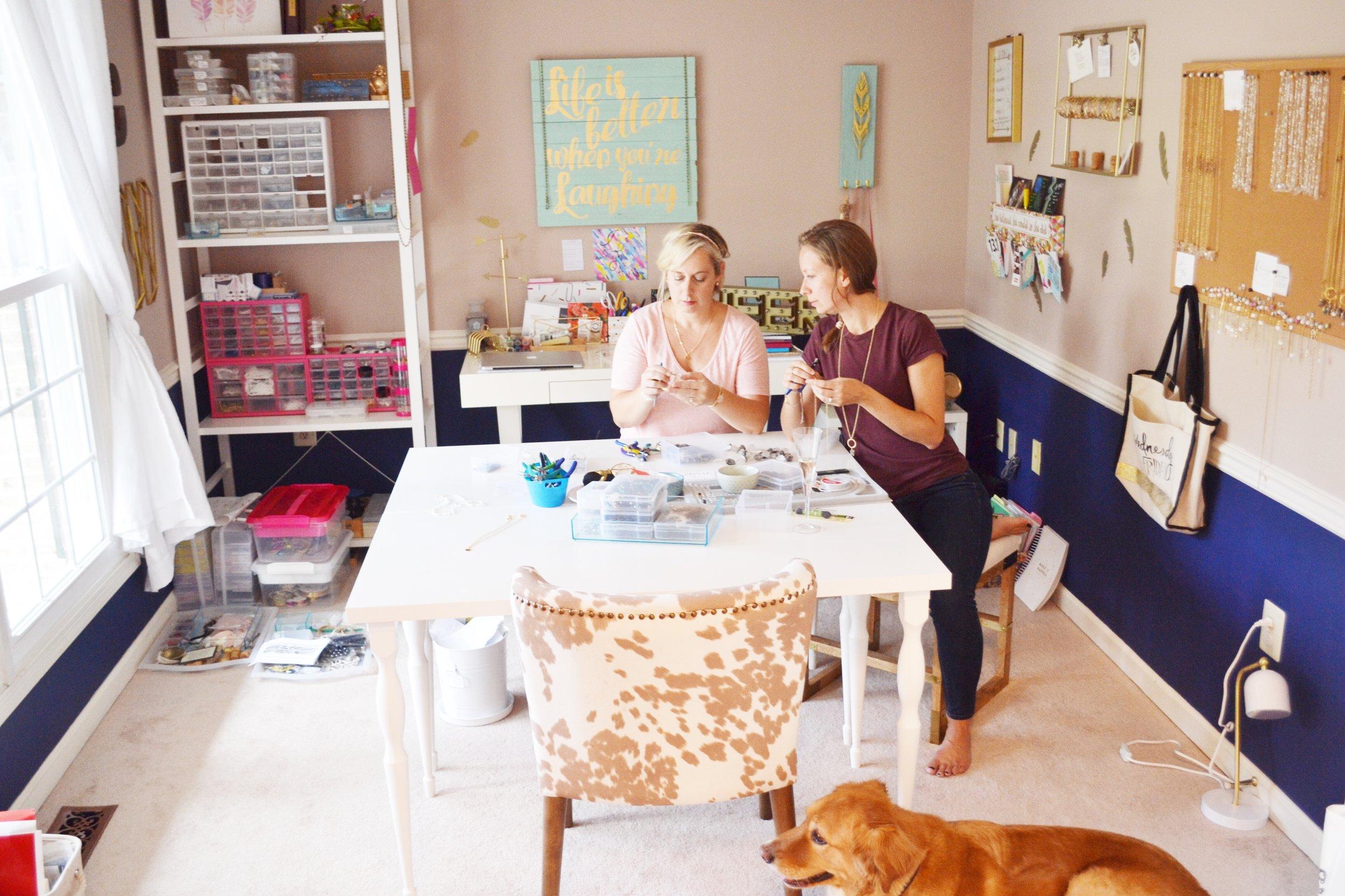handmade jewelry workspace