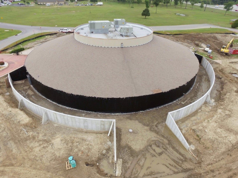 Muscogee Creek Nation Mound Renovation Okmulgee, Oklahoma