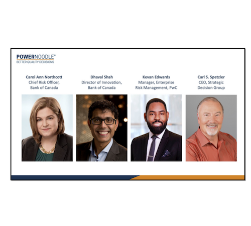 Webinar - Powernoodle teams up with industry experts from: Bank of Canada, PwC and SDG, to discuss how Risk and Innovation can work together to increase results.