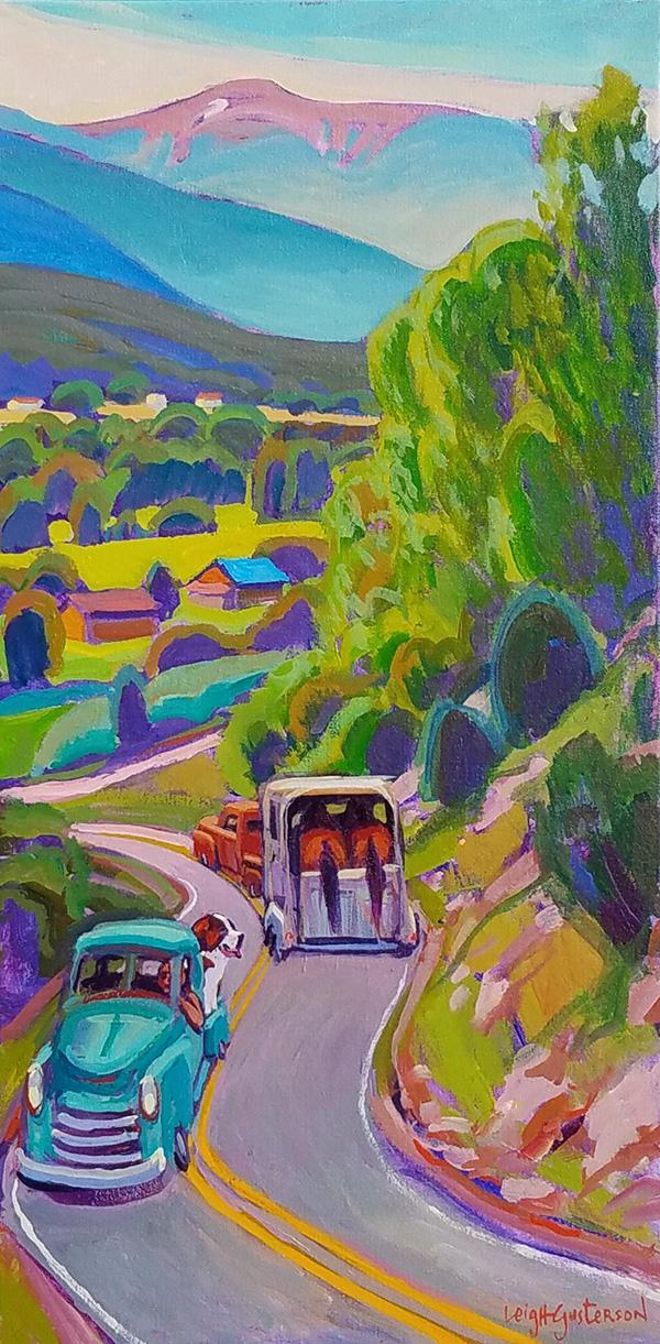 Bypass on the Horseshoe   Acrylic on Canvas