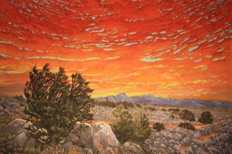 Red Clouds at Morning   Oil on Canvas