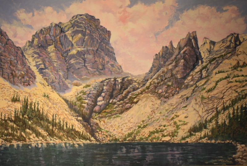 Emerald Lake   Oil on Canvas