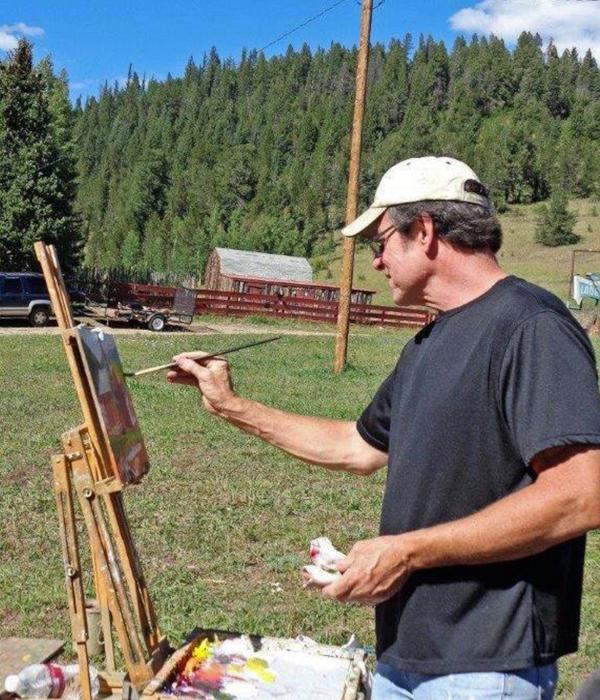 Chris Morel - Painting @ Fall Plein Air Painting Workshop NM