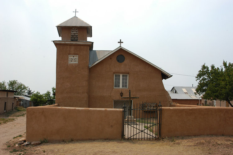 Truchas Mission of Holy Rosary, Truchas, NM.