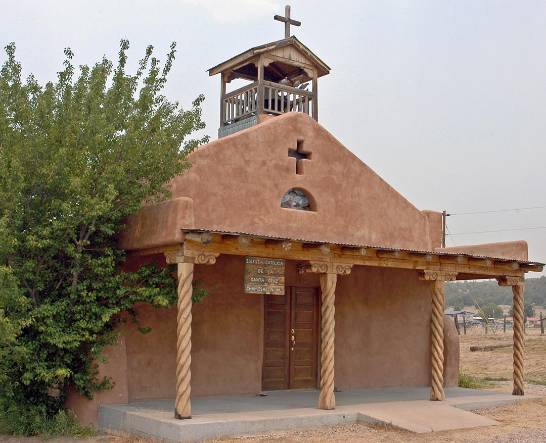 Iglesia Catolica de la Santa Cruz, Chamisal, NM.
