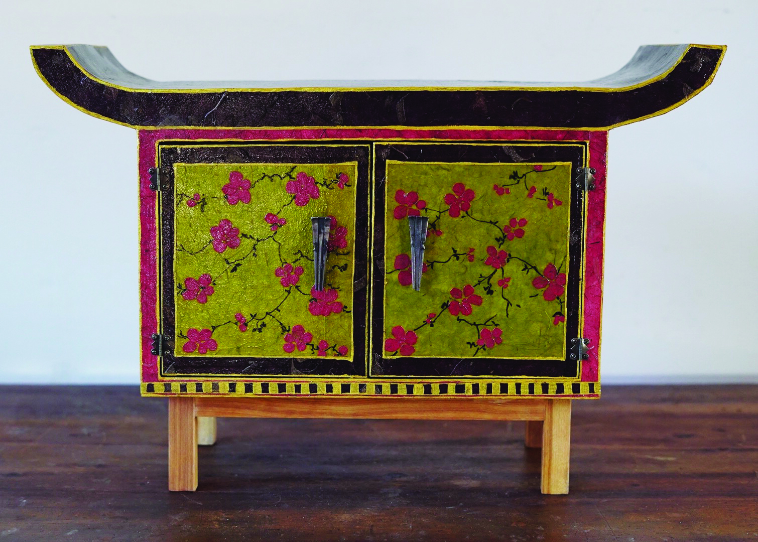 Cherry Blossoms   Wood furniture, handmade paper, shellac