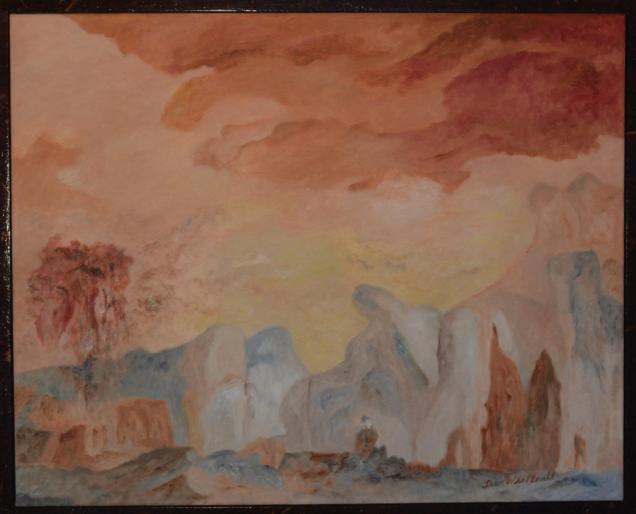 Meditation   Framed oil on canvas.