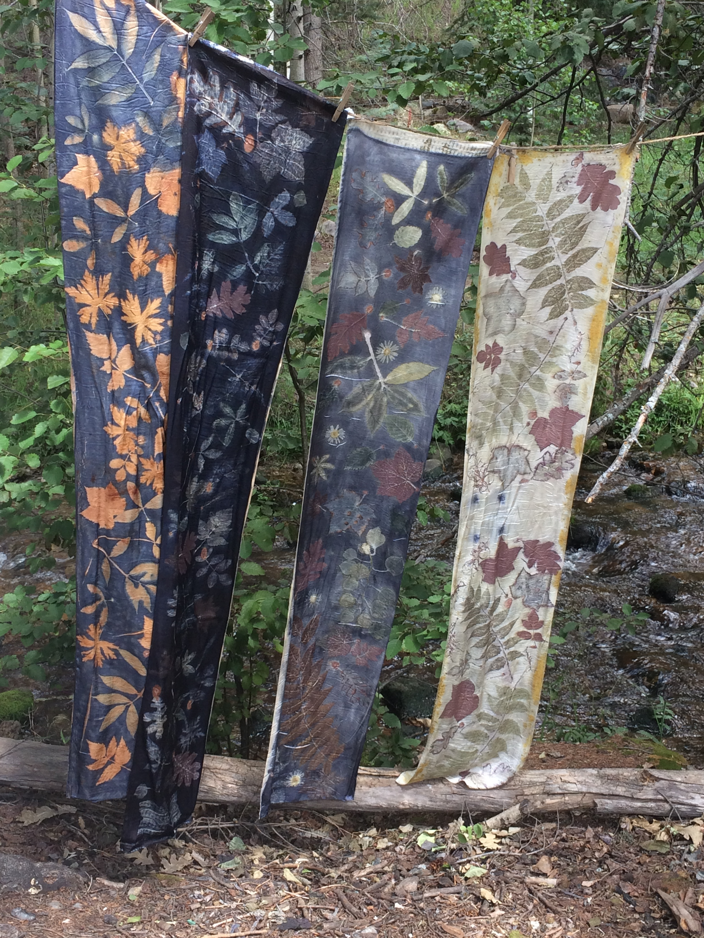The woods and the magic of nature dyed silk.