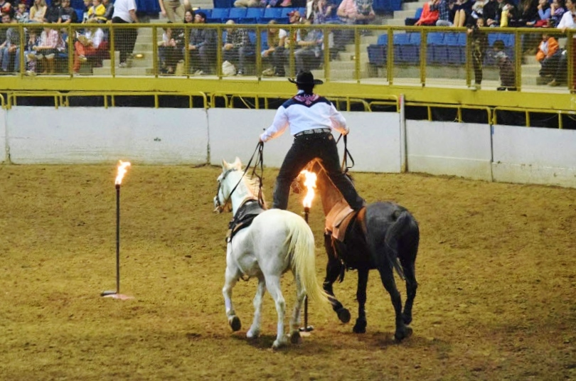 Alyssa Martinez Roman Riding Fire Torches Annual Show 2018.jpg