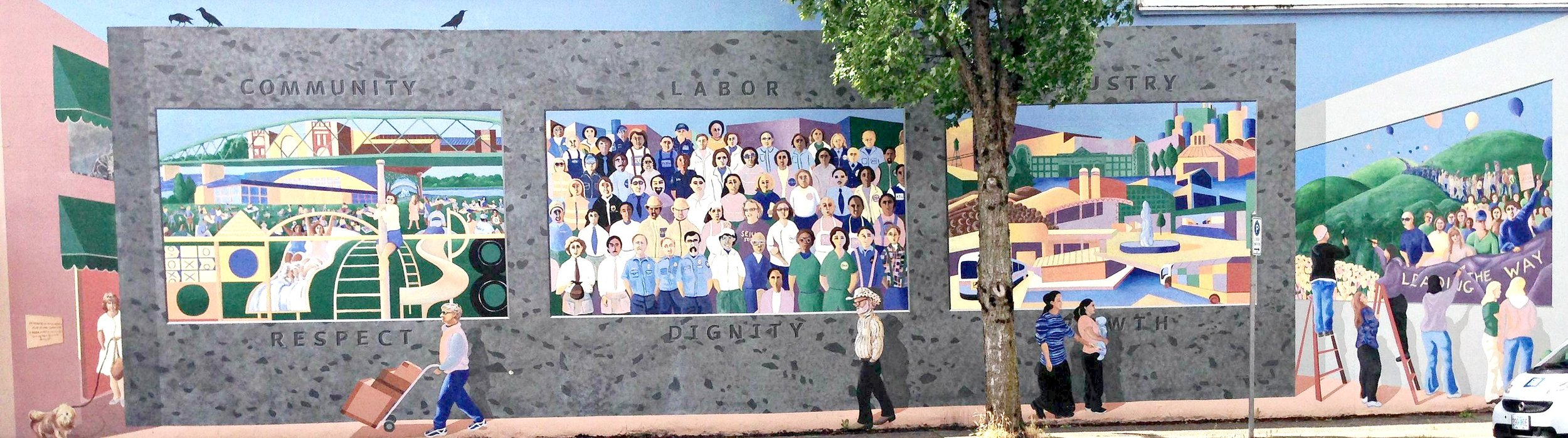 11. Jessie Bostelle Memorial Mural (2001), by Alison McNair with students from Gateway, Springfield, and Thurston High Schools