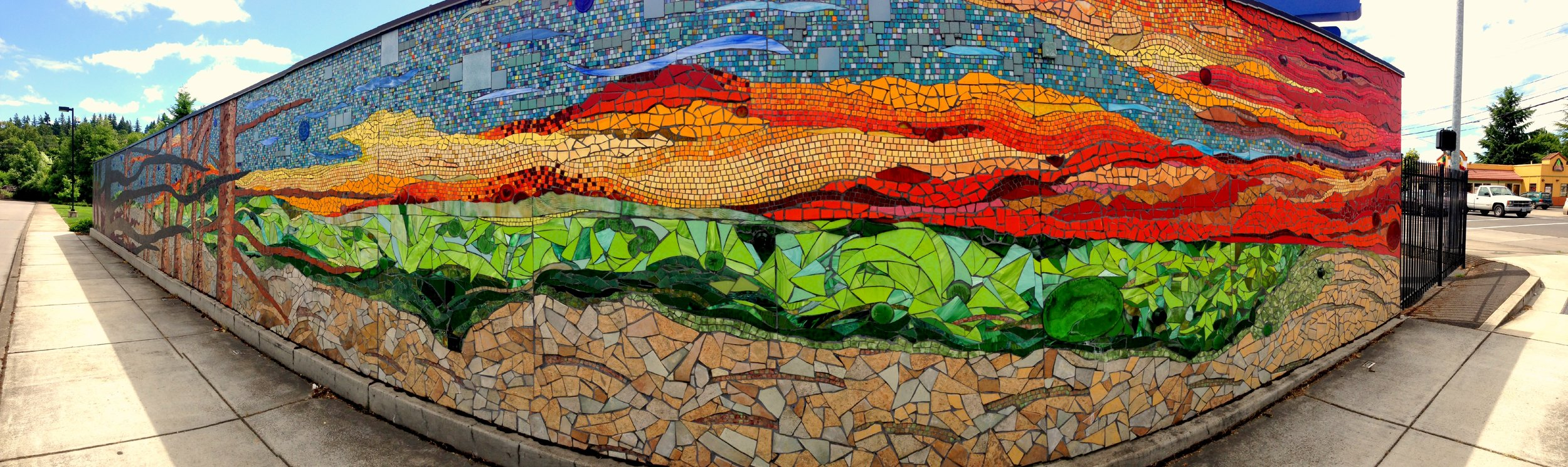 The Sun (mosaic mural, 2004), by Mary Beth Llorens