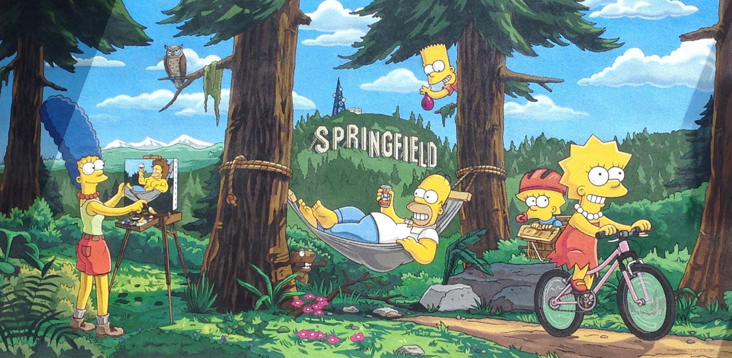 10. Official Simpsons Mural (2014), by Matt Groening, Julius Priete, and Old City Artists