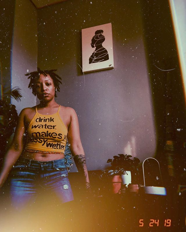 the wetter the better.  hydrate: a series  feat. @textual.n.tercourse . . If you're reading this make sure to have a glass. 💦 .  #sweetnmellow #rowdyrebel #solidgoldsoul #blackgirlfly #singersongwriter  #wavymami  #iliketoedit #analoggirl #yellowjawn  #chameleon #indiemusic #goodenergy #gaptoothkilla #locjourney #locnation #wcw #blackgirlmagic #postoftheday #locstyles #loctopianqueens