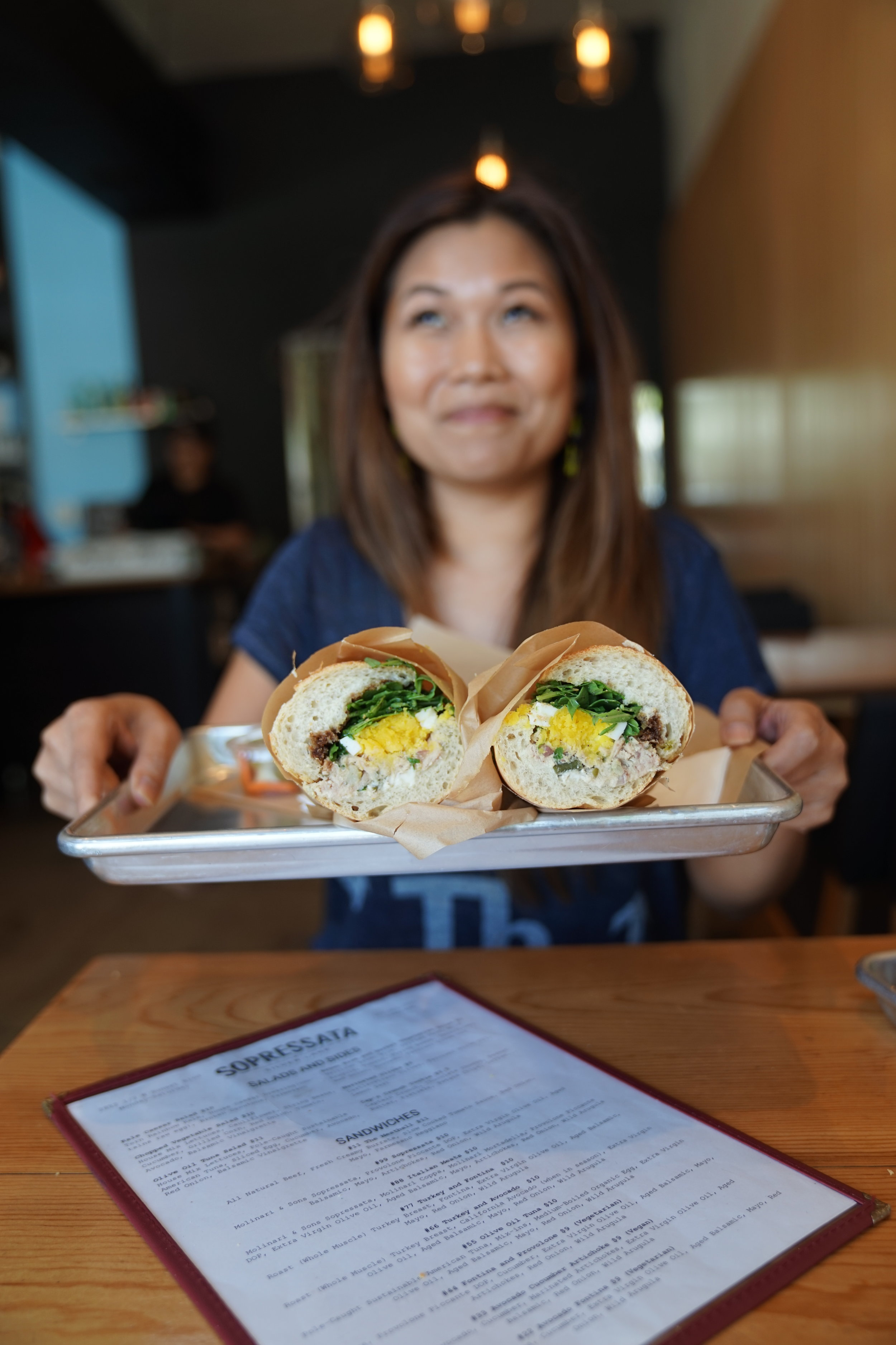Jenn Wong & #55 at Sopressata  When sandwiches are too complicated to make at home, treat yo' self