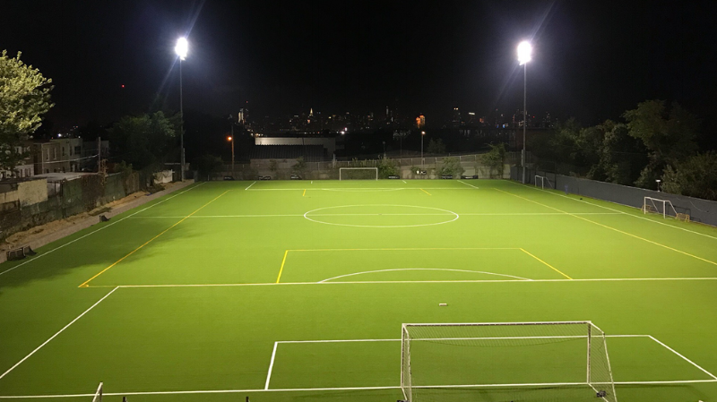 Metropolitan Oval's new state of the art turf field at its Youth Center of Excellence will be a busy facility for both youth soccer training and competitions.