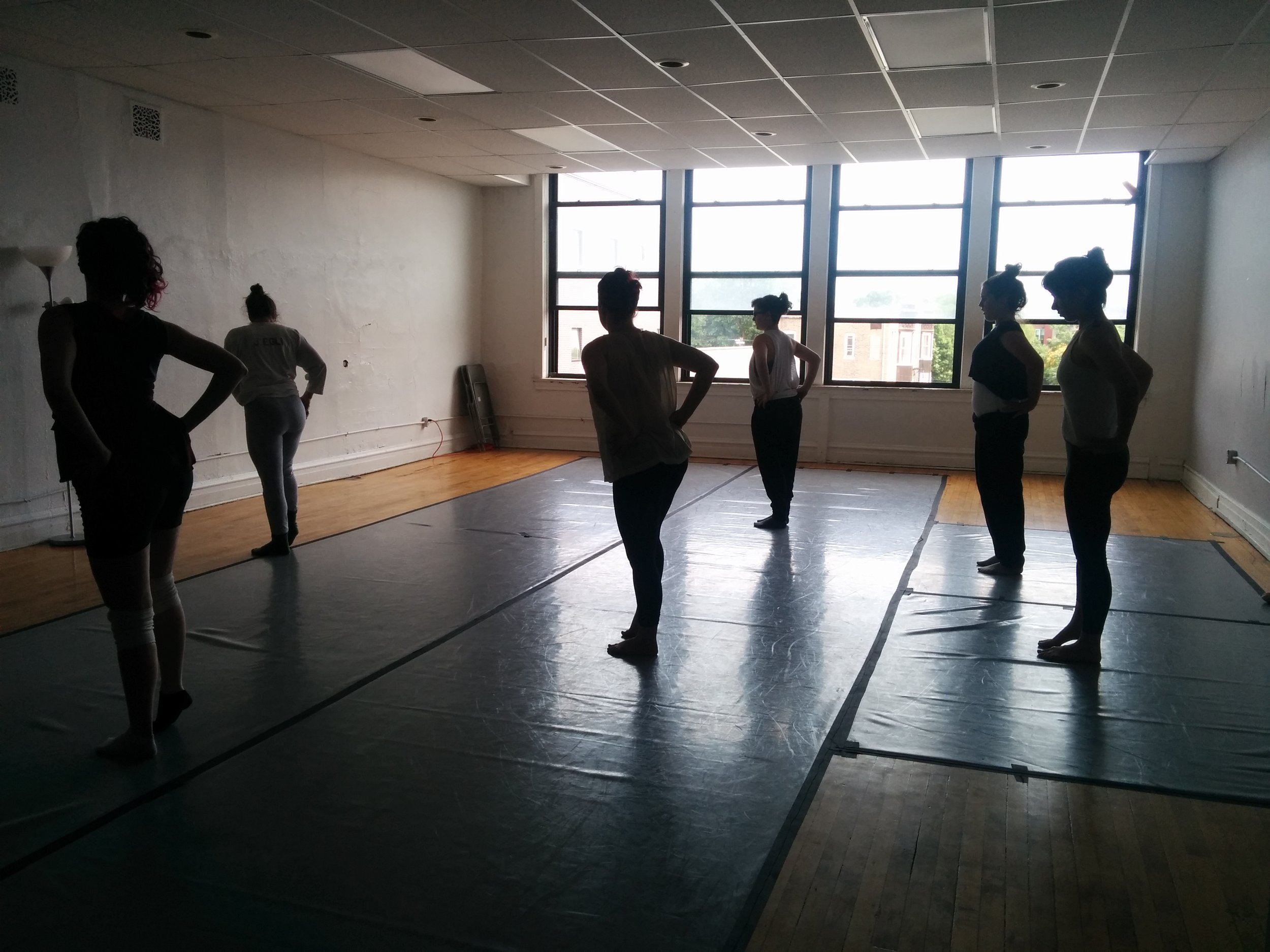 Precious Jennings teaching Queer Ballet at OuterSpace, Chicago, summer 2016 (photo credit: Nora Sharp)