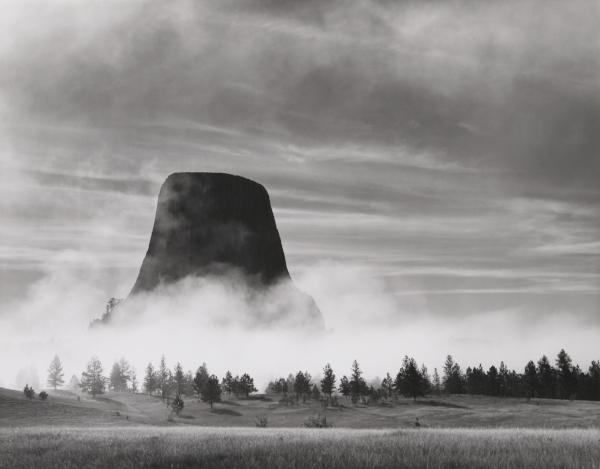 Rising Fog - Devils Tower, WY, 1988