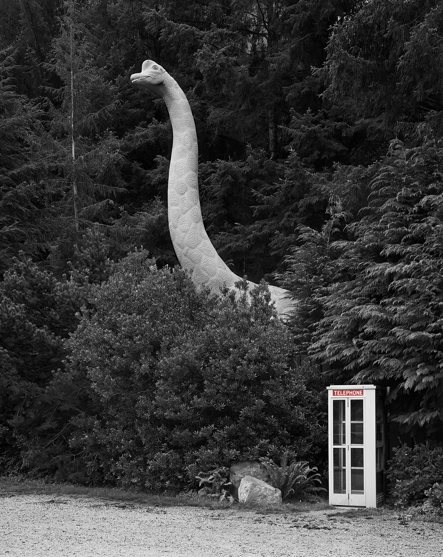Dinosaur and Telephone Booth, Oregon, 1979/2015