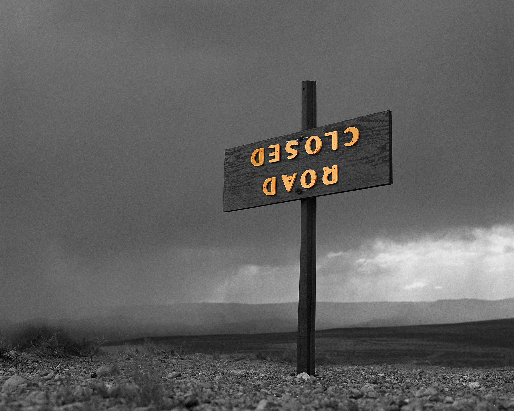 Road Closed, Utah, 1980/2015