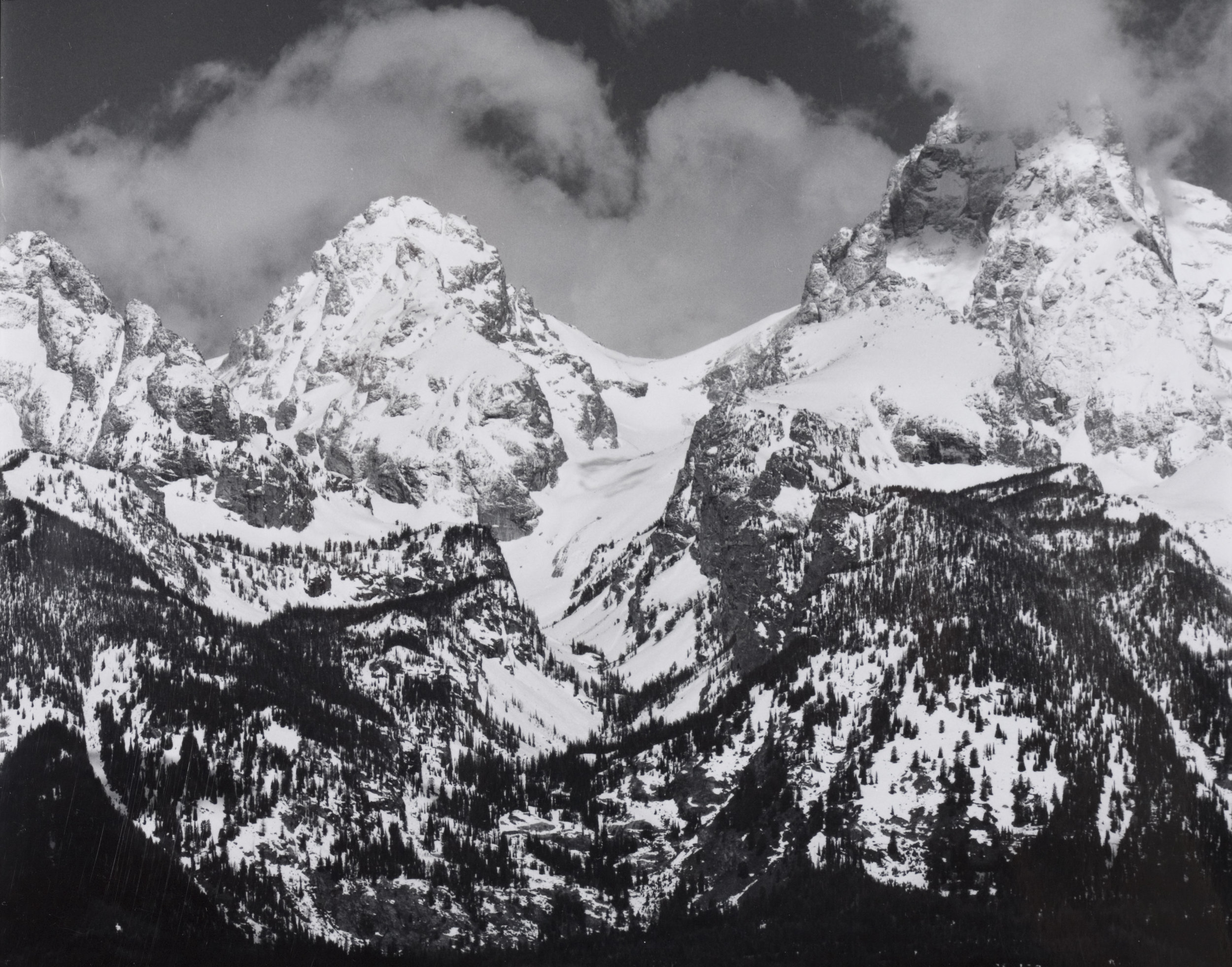 Clouds and Mountains, The Tetons,WY, 2006