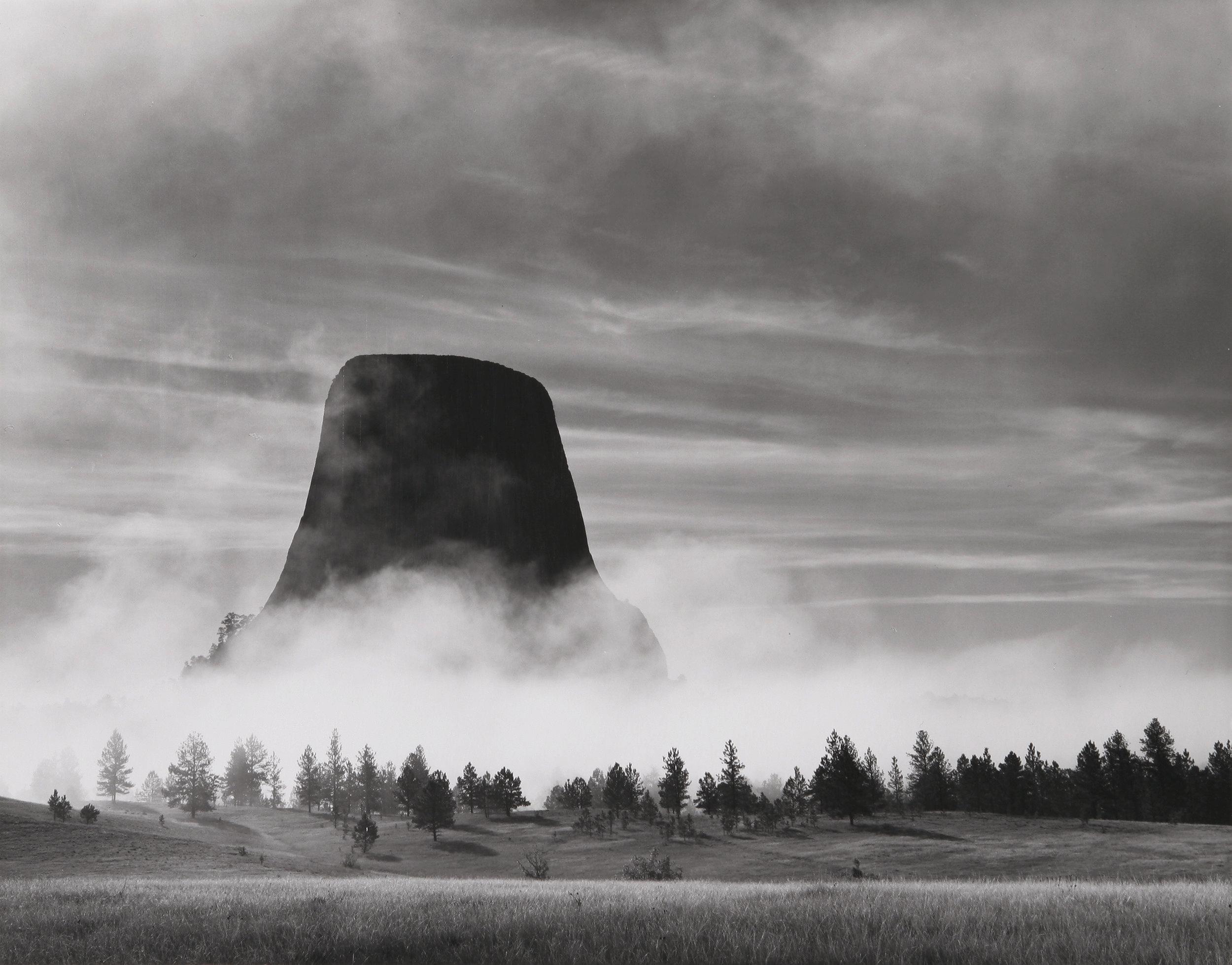 Rising Fog, Devils Tower, WY, 1988