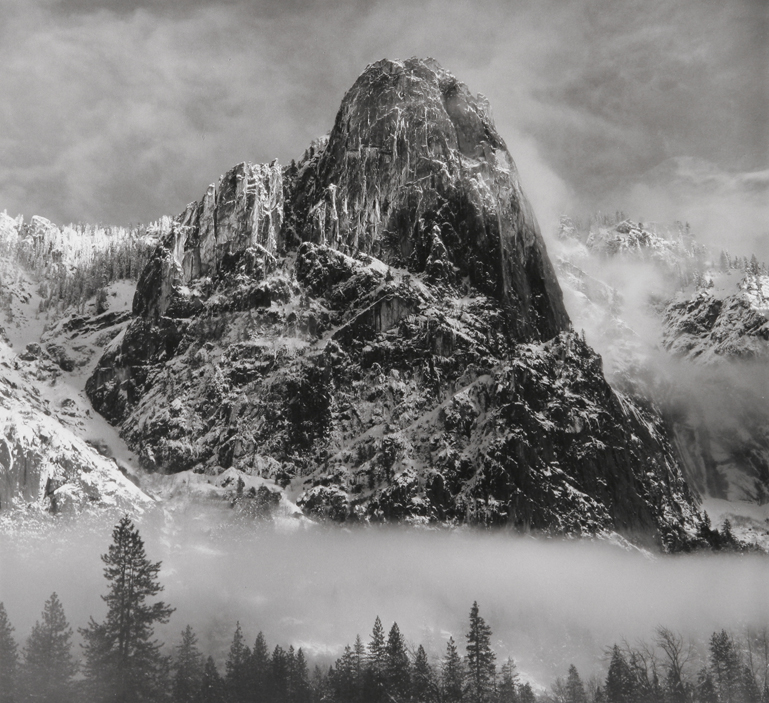 Winter Portrait - Sentinel Rock, Yosemite National Park, CA, 2000