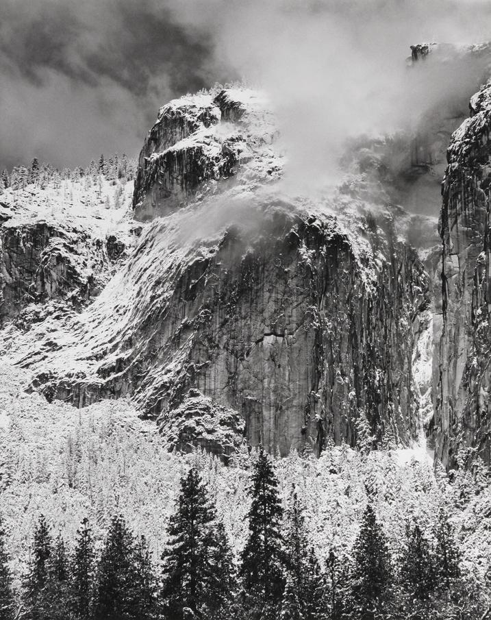 Cliffs in Snow, Yosemite National Park, CA