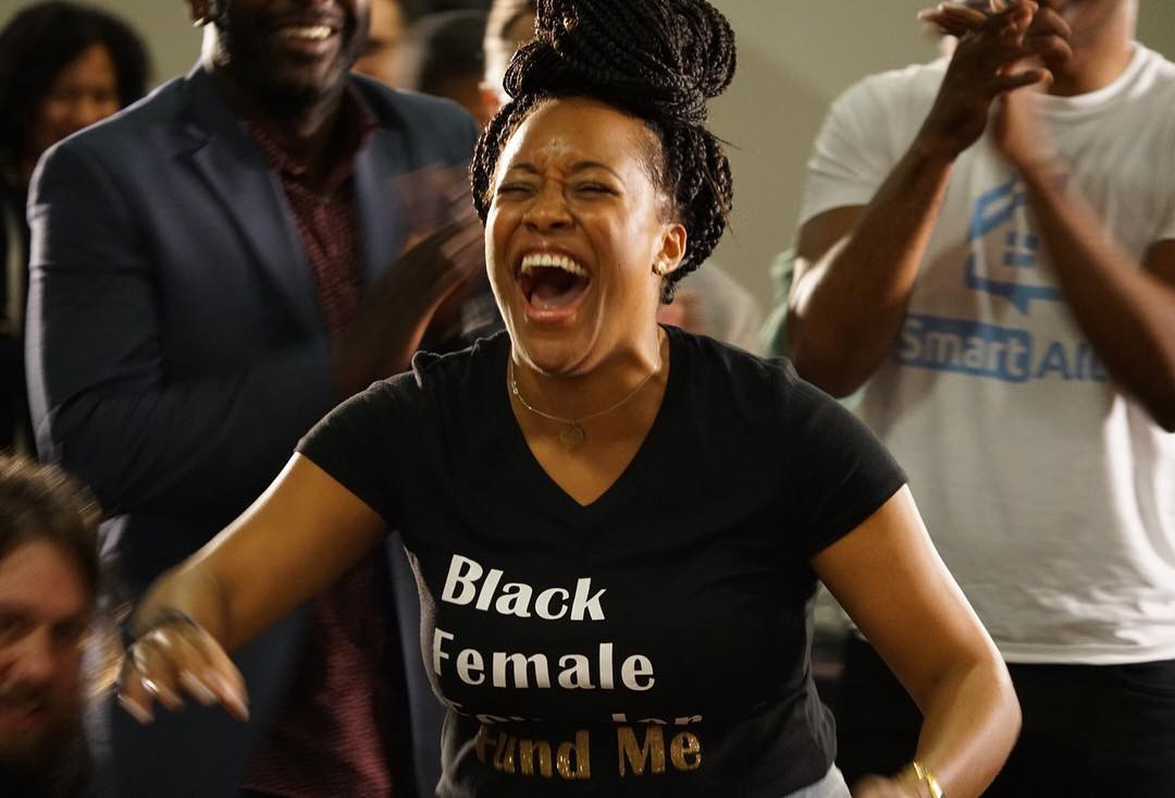 """Ashlee after winning """"Rise of the Rest"""" Birmingham and a $100k seed investment from Revolution. May 9,2018"""