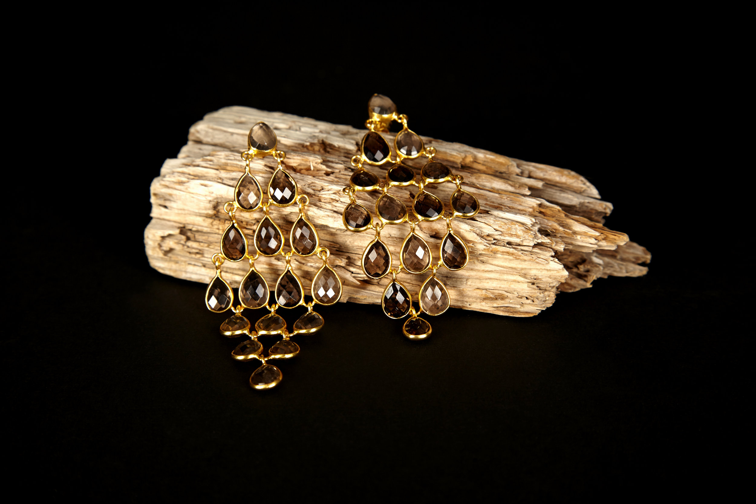 product photography jewellery prop earrings black background packshot e-commerce Brighton London Flare Studio