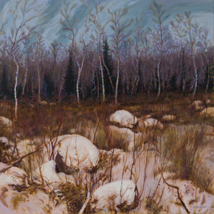 Beconia-sandbar willow 36x36 acrylic.jpg
