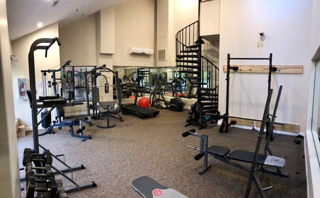 Our equipment includes a elliptical and NordicTrack treadmill featuring a google maps simulator and i-pod connectivity. Additionally, our free weight systems include a smith machine and squat rack. Plenty of equipment for those looking to exercise in the convenience of their home.
