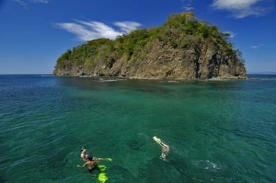 Enjoying the beautiful Costa Rica water
