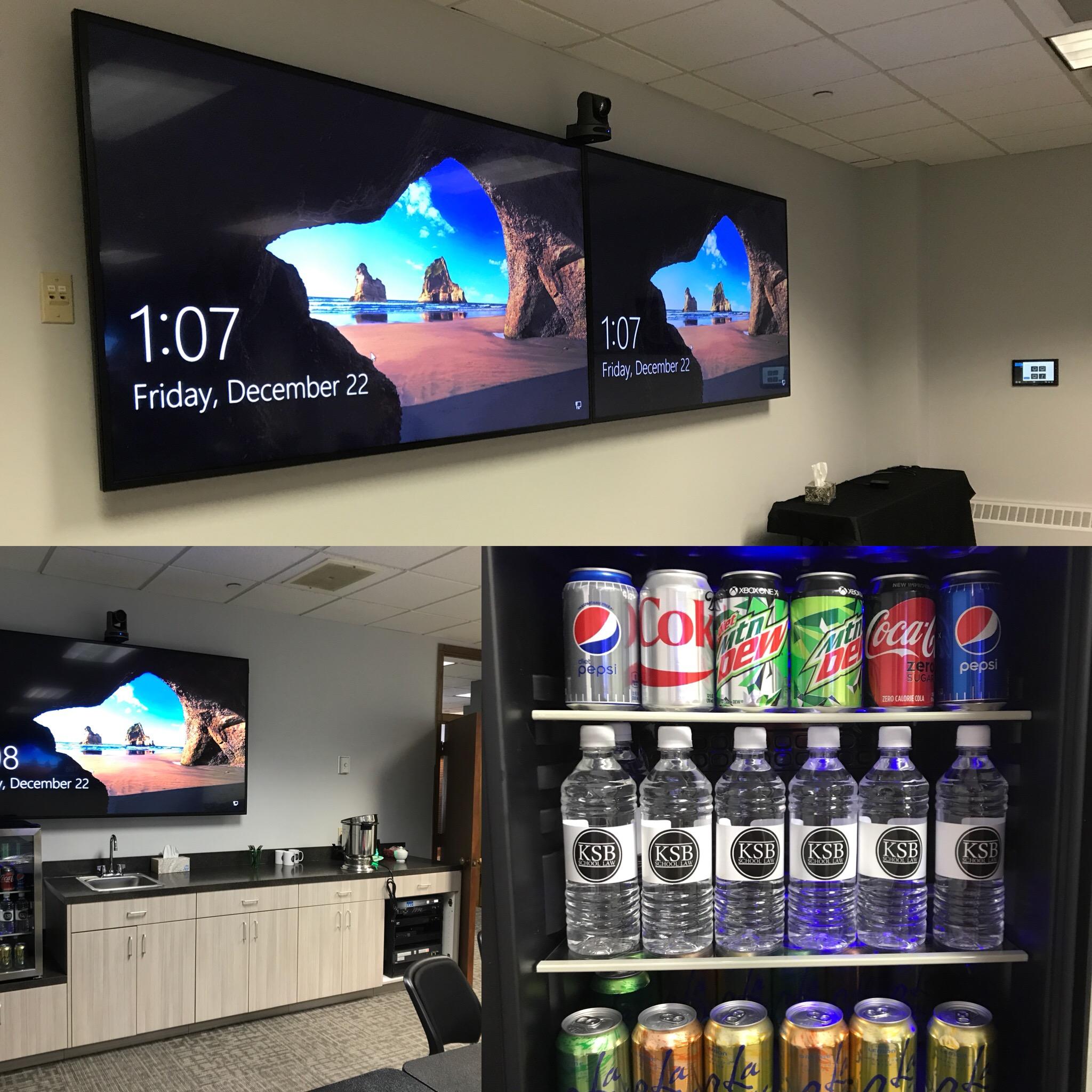 3 screens in the new KSB Classroom