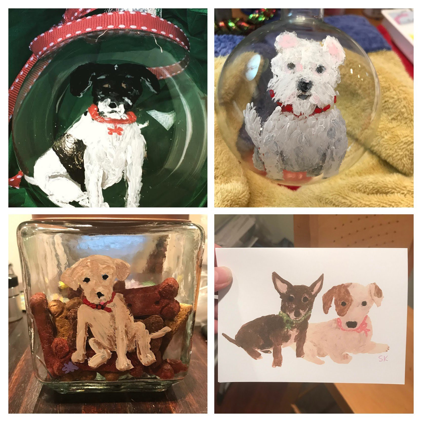 Ornaments, Treat Jars, Note Cards - All sorts of products to feature your fur baby.