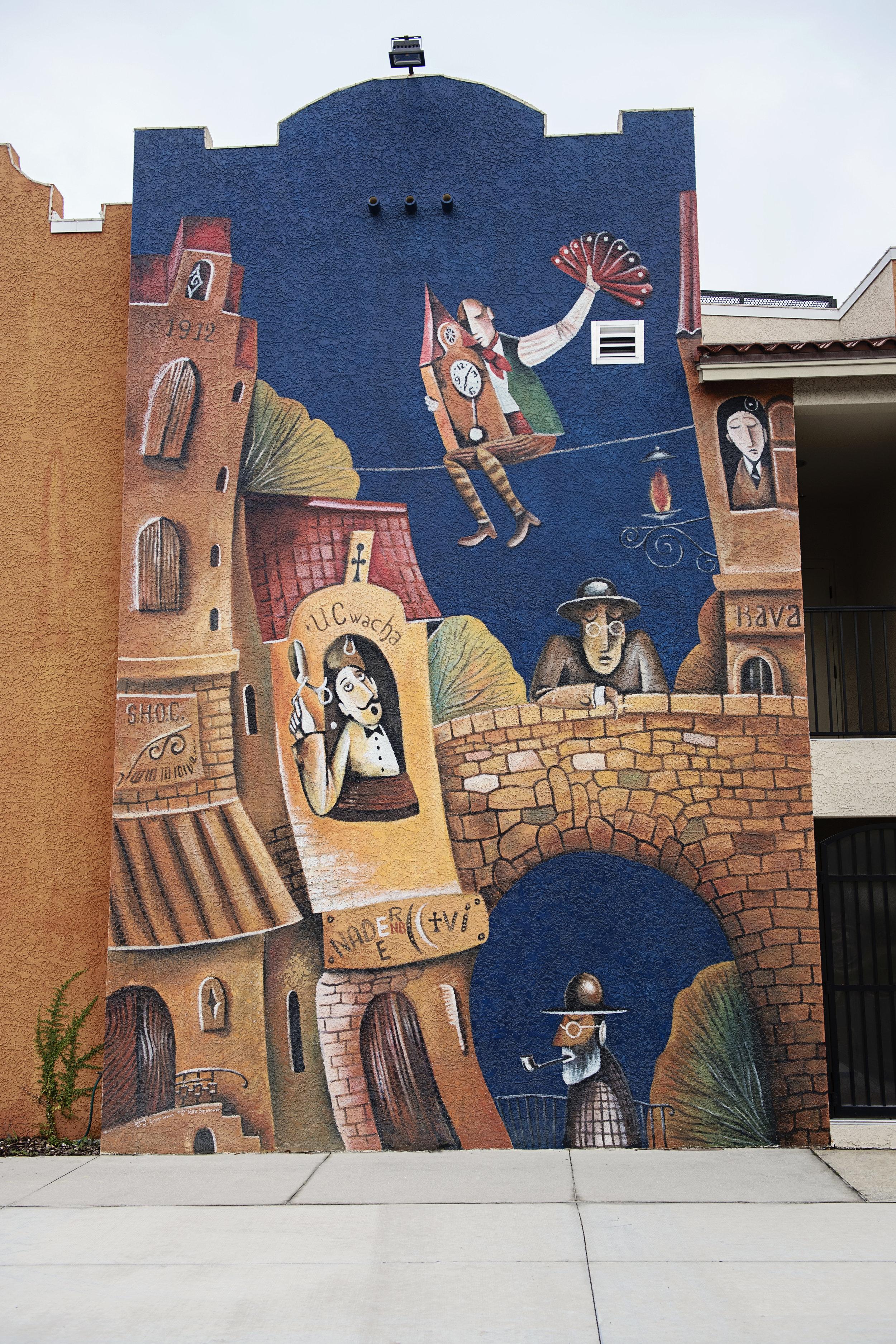 Florida Studio Theatre mural by Nate Baranowski