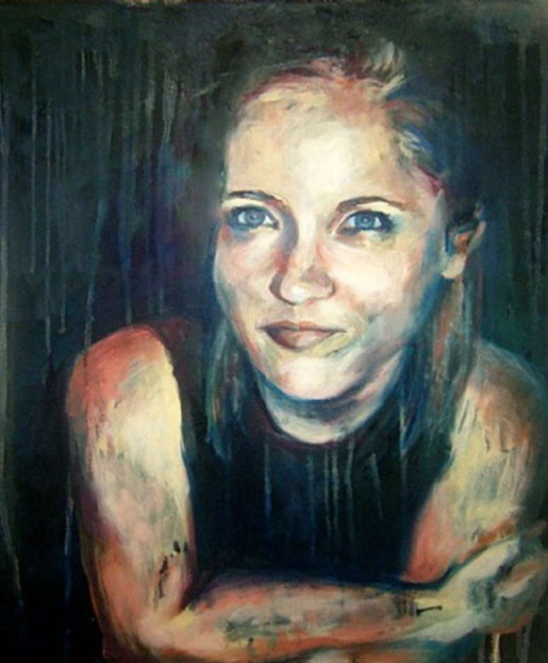 """""""Smirk"""" - Oil on Canvas by Emily Weiss"""