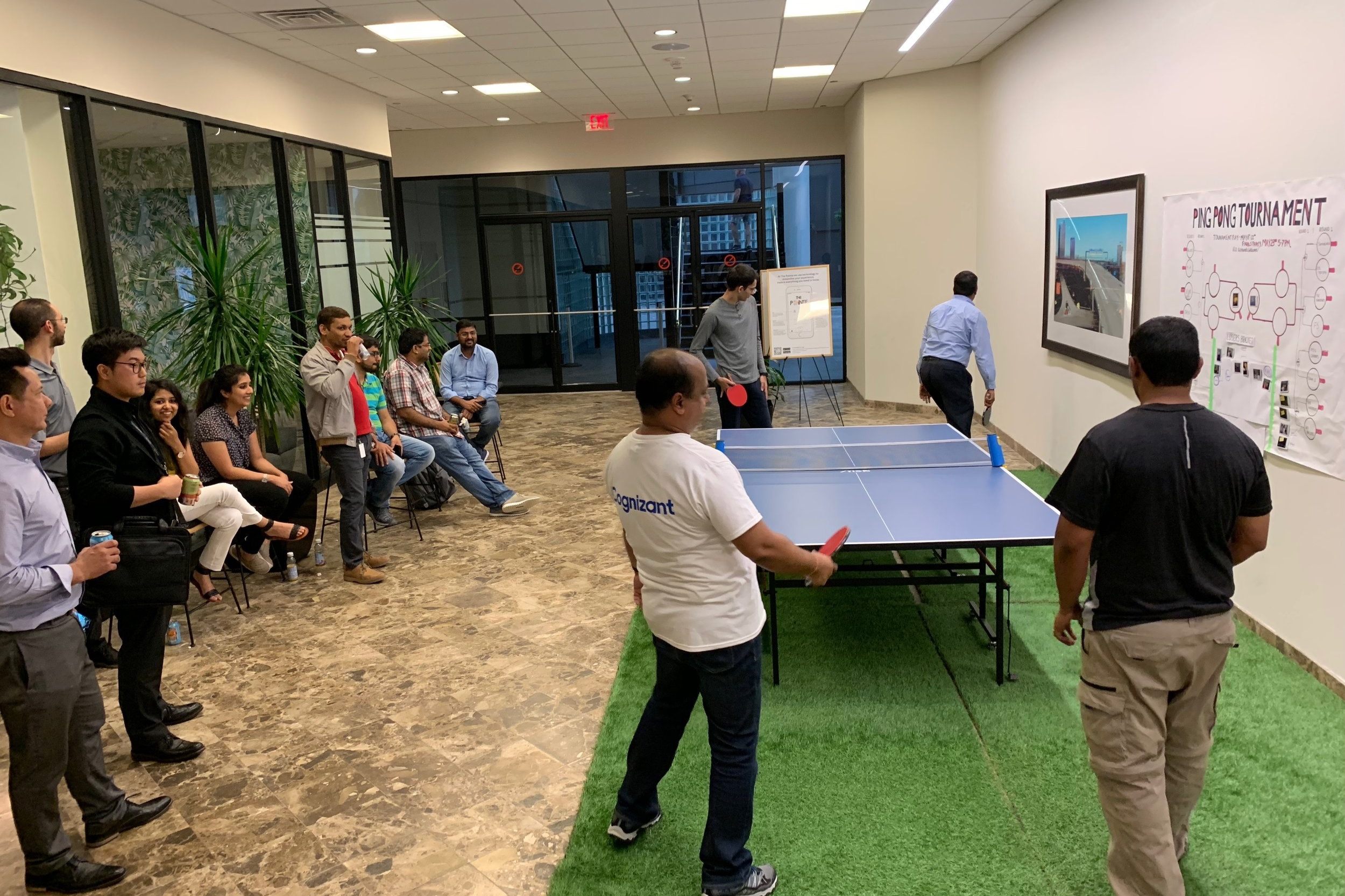 Community Events for All Tenants   We host Monthly Events at The Pointe for all tenants to socialize, meet new people, play and relax. Some favorite events are : the P ing Pong Tournament, Tenant Art Show, Scavenger Hunt, Karaoke Night, Pool Party  and more!