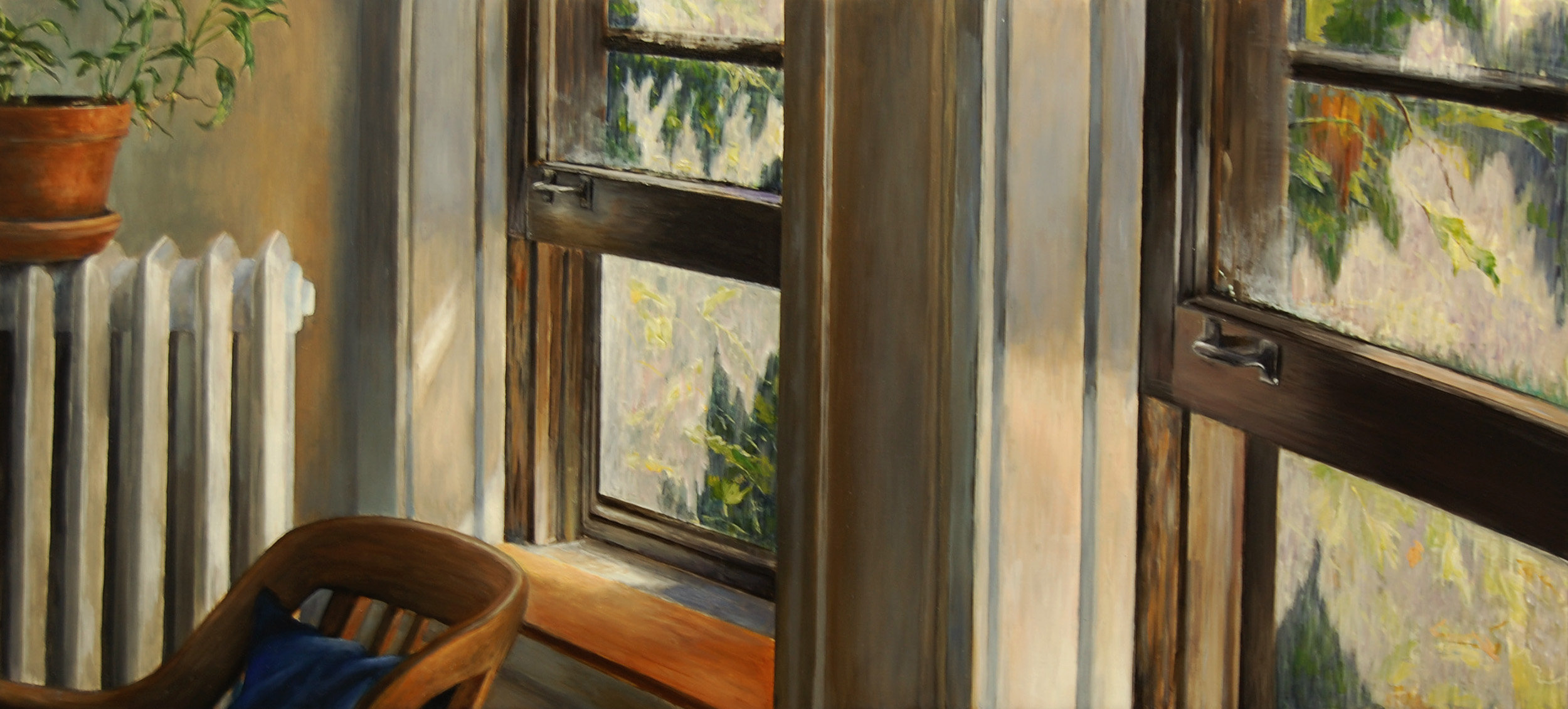 Early Afternoon Light   2011  Oil on canvas  15 x 32 inches
