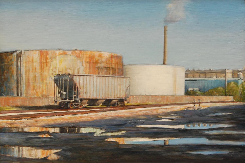 Train Car, Port of Milwaukee   2012  Oil on canvas  8 x 10 inches
